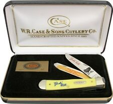 "CASE KNIFE BABE RUTH COMM. SER 1338 GIFT SET TRAPPER 3254SS PAT 4 1/8"" CL 1673"