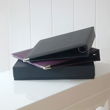 Black Leather A4 Ring Binder, Leather Ring Binder, A4 Binder (13E1)