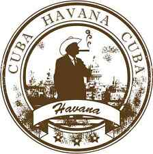 "Havana Cuba Travel Republic Car Bumper Sticker Decal 5"" x 5"""