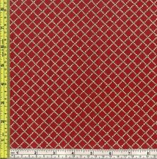 Smart Cowboy Lasso Rope Net Trap Red Cotton Quilt Sewing Material 1/4 yd 22.8 cm