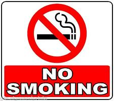 140X125 NO SMOKING SQUARE LEGAL SIZE CIRCLE sticker decal shops businesses taxi