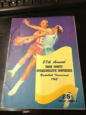 1963 Union County Basketball Tournament Program L8161