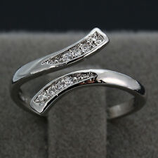 925 Silver Cubic Zirconia Flawless Women Elegant Adjustable Vogue Jewelry Rings