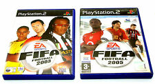 Playstation 2 PS2 Football Game Bundle 2 games - Fifa 2003 - Fifa 2005