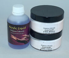 250ml Acrylic Liquid + 60g White French + 60g Pink/Clear Natural Acrylic Powder