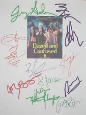 Dazed and Confused Signed Script X11 Matthew McConaughey London Affleck reprint