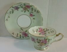 Vintage ADDERLEY TEA CUP & SAUCER - PINK PURPLE YELLOW ROSES English Bone China