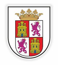 1x Sticker Escudo de Castilla y Leon Coat of arms for Bumper Laptop Door