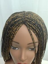 """20"""" Handmade black /gold Blend Braided Wig. Made with Premium Synthetic Hair."""