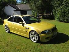 STUNNING PHOENIX YELLOW BMW M3 E46 MANUAL KIWI LEATHER SATNAV