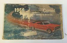 1966 Mercury Comet Owner's Manual