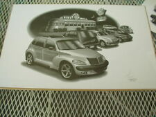 "2001 PT Cruiser, Thom SanSoucie Signed Print # 4800 , 11"" x 17"""