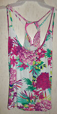 NWT WOMENS / JUNIORS Candie's DRESSY FLORAL RUFFLE BACK KNIT TANK TOP  SIZE M