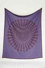 NEW URBAN OUTFITTERS MAGICAL THINKING PURPLE OVERDYED MEDALLION TAPESTRY 84 X100
