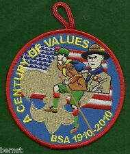 "VINTAGE BOY SCOUT - 2010 100th ANNIVERSARY PATCH 4"" - A CENTURY OF VALUES"