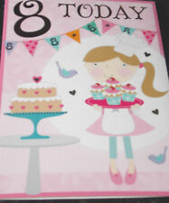 Girls 8th Birthday Card by Selective cards. 12 available.