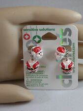 Claire's Sensitive Solutions Holiday Glitter Santa Claus  Earrings USA SELLER