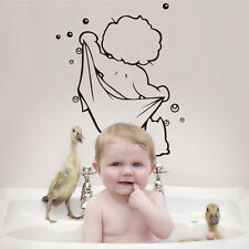 US STOCK Boys Shower Wall Stickers Vinyl Mural Decal Bathroom Kid Art Decor