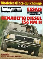 L' AUTO-JOURNAL n 13 . 1er aout 1980 .  Renault 18 diesel .