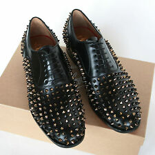 CHRISTIAN LOUBOUTIN studded Bruno Spikes oxfords gold metal stud shoes 43/10 NEW