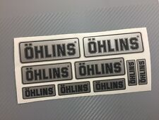 Kit 9 Adesivi Sticker OHLINS Special Edition SILVER
