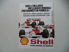 advertising Pubblicità 1984 SHELL e MCLAREN