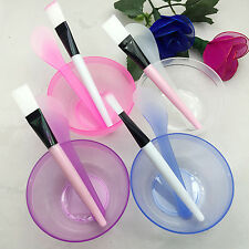 POP Homemade Makeup Beauty DIY Facial Face Mask Bowl Brush Spoon Stick Tool Set
