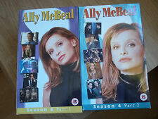 Ally Mcbeal vhs videos  ALL of SEASON FOUR  Parts 1 & 2