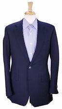 * HENRY POOLE * Savile Row Bespoke 2011 Navy Blue Metal Button Blazer Jacket 40L