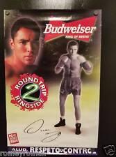 Boxing Fight 1999 Poster Oscar De La Hoya ~ Round Trip 2 Ringside Budweiser Beer