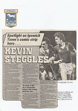 KEVIN STEGGLES IPSWICH TOWN 1980-1986 ORIGINAL SIGNED MAGAZINE PICTURE CUTTING