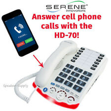 Serene Innovations HD-70 Amplified Bluetooth Home Phone 50dB Landline and Cell