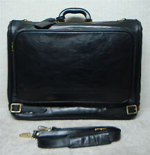 BALLY - Vintage Luxury Executive Bifold Garment Bag - Black Leather - Italy Made