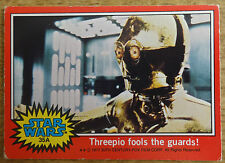 Topps Star Wars trading card red series, 35 A, CP30 fools the guards!