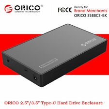 "ORICO 2.5"" / 3.5 Inch USB 3.0 Type-C SATA Hard Drive SSD HDD External Enclosure"
