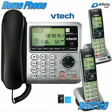 NEW Vtech DECT 6.0 Corded/Cordless Home Phone Telephone 3-Set System