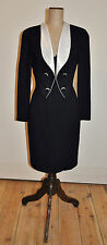 Vintage 80's MORTON MYLES Design 'Tuxedo' Style Dress
