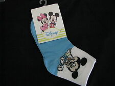 boys socks mickey mouse white black blue size 6 to 9 months
