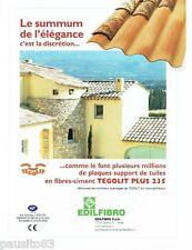 PUBLICITE ADVERTISING 116  2008  Edilfibro tuiles   Tegolit plus 235