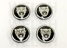 Jaguar Wheel Badge Set in Black - Center Cap - Wheel Motif - 1988-2012