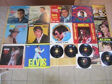Elvis Presley Lot:  (10) LP's, (5) 45rpm records, (4)  Magazines, Living Stereo
