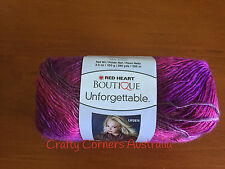 Red Heart Boutique Unforgetable Varigated Yarn 100g Ball Winery Lot no 166650