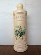 Vintage  Plastic Straw container, pictured guardsman / soldier on horse