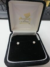 Pair of 14KT Gold Post 0.50 cttw Diamond Stud Earrings