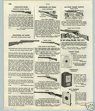1951 53 PAPER AD Daisy Air Rifle Defender Red Ryder Scope Sheridan Benjamin BB