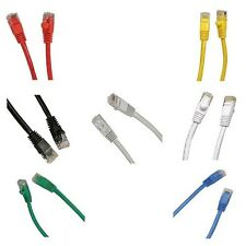 New Different Colors 10 Pack Pcs Lots 3ft 1m Rj45 Cat5 Cat5e Snagless Cable