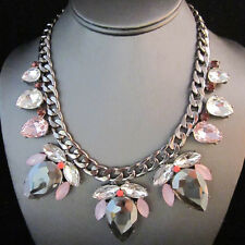 NEW Anthropologie Roxa Beetle Midnite Silver Glint Lavender Bead Necklace