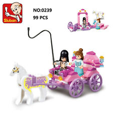 Sluban B0239 Princess Horsr Carriage Figure Building Block Toy Bricks Toys