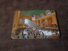 "NEW YORK CITY~METRO CARD HOLDER~NEW  GRAND CENTRAL STATION 3 1/2"" X 2 3/8"