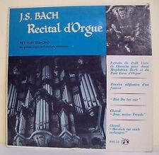 33T 25cm J-S. BACH RECITAL D'ORGUE Disque Piet VAN EGMOND Oude Kerk Amsterdam